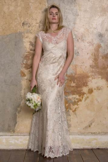 Sally Lacock boho vintage inspired wedding dress