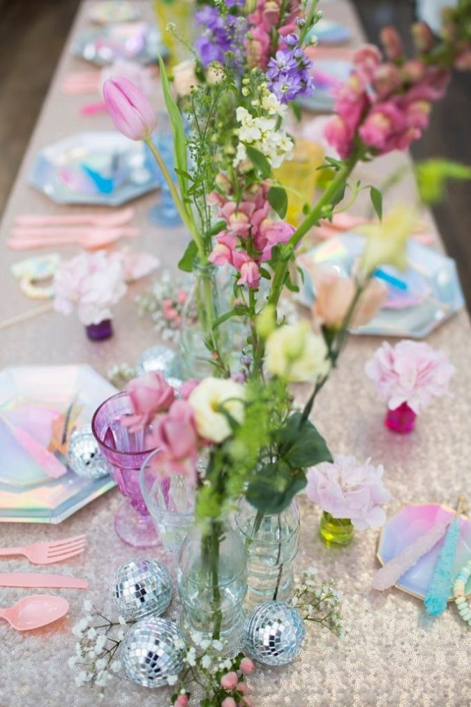 A pastelled coloured vintage prom wedding shoot