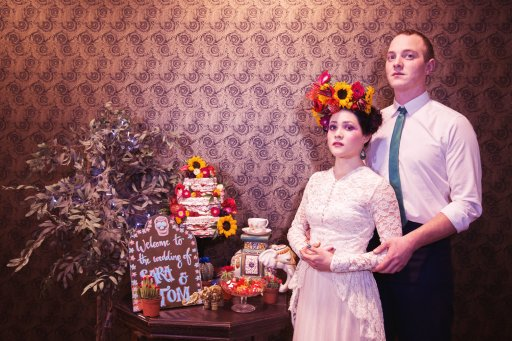 A Frida Kahlo circus wedding shoot with a touch of Dior