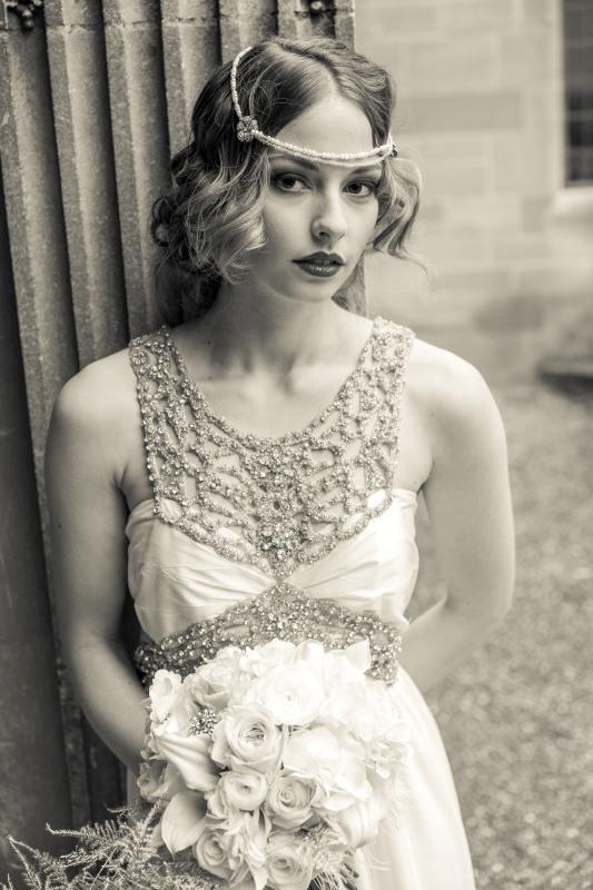 A 1920s vintage style Gatsby Art Deco wedding