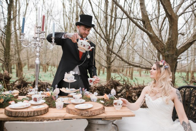 Alice In Wonderland Wedding With Alternative Bridal Style
