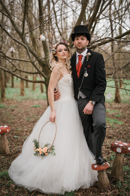 Alice In Wonderland Wedding With Alternative Bridal Style