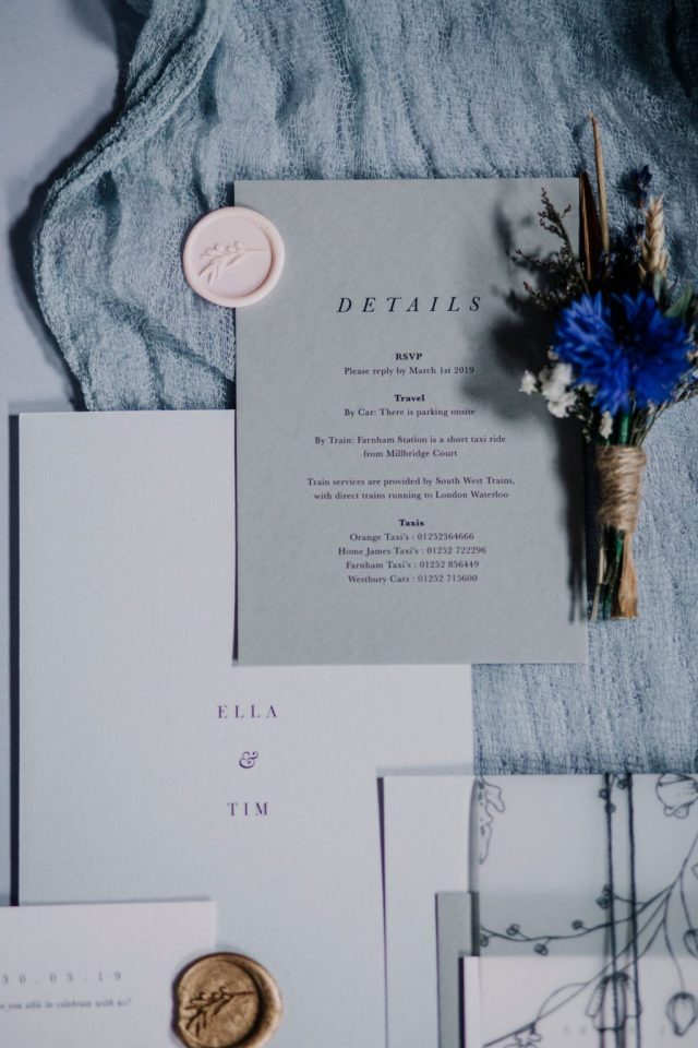 Contemporary Wedding Inspiration with Eclectic Grey Styling