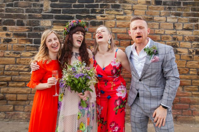 Industrial Brewery Wedding in Yorkshire with a Crossword Theme