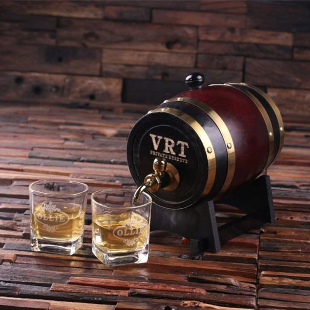 father of the bride whiskey barrel