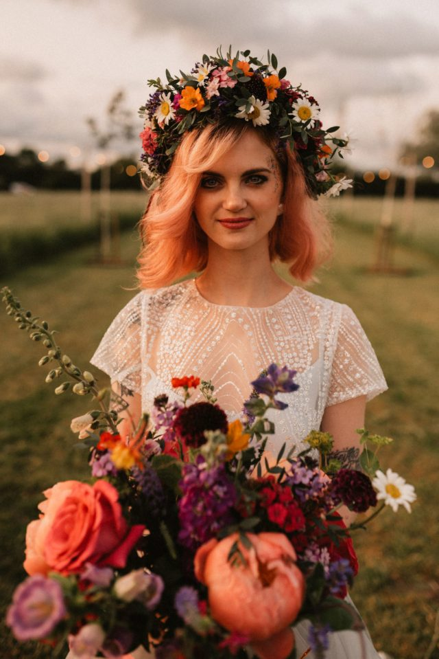 Boho Festival Wedding Inspiration With Colour Splash Rainbow Styling