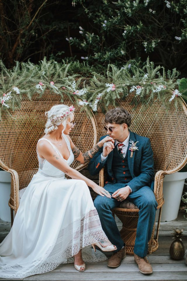 Tropical Festival Wedding at The Winding House Dover
