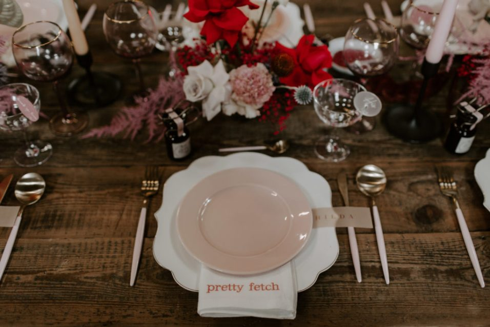 Embroidered Linen Napkins for Weddings