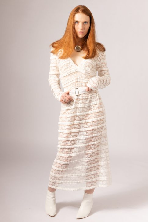 Magpie deadstock lace dress