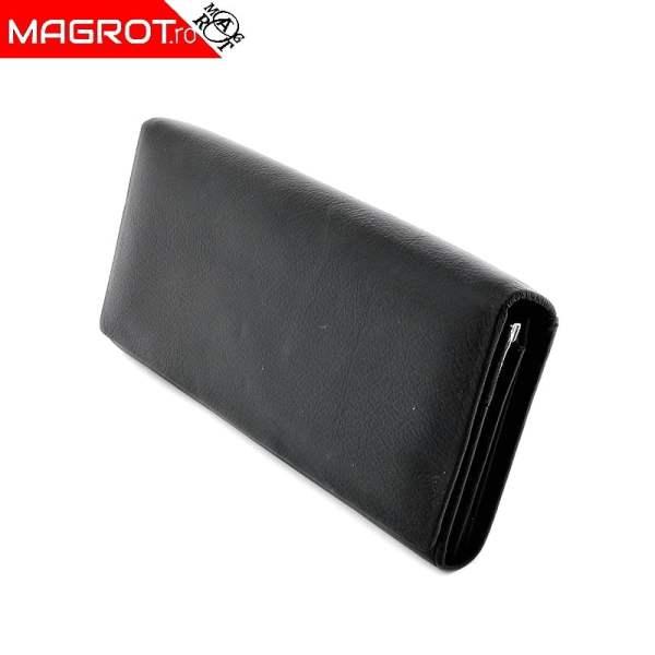 Portofel dama A-01 Black original Hasion din piele naturala veritabila. Este un portofel elegant si incapator. Detalii: acceseaza oferta!