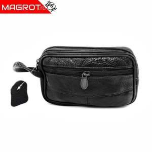 Borseta mica de mana, Magrot, din piele naturala, negru 2306