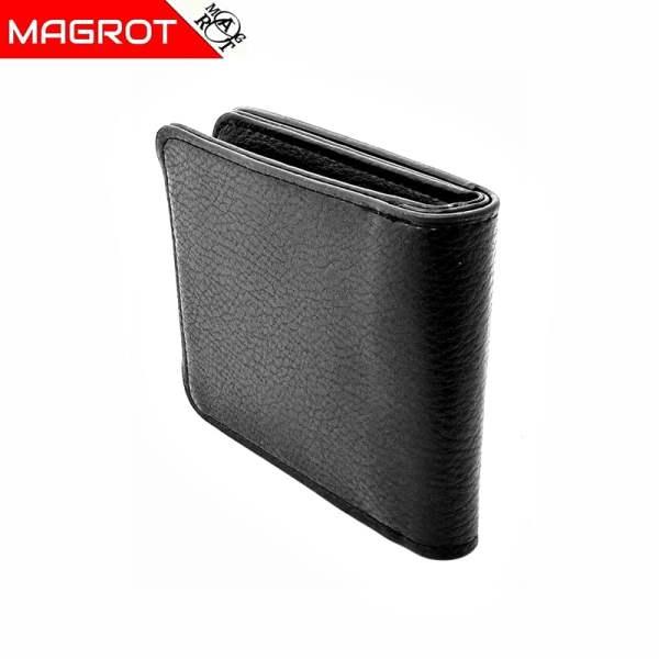 Portofel Audi barbatesc, negru din piele, MAGROT 872