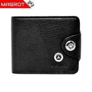 Portofel Mercedes-Benz barbatesc, negru, din piele ec., Magrot 878