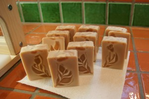 Just cut - rooibos tea soap