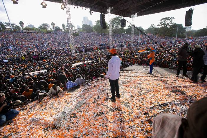 Raila Odinga NASA campaign at Uhuru Park