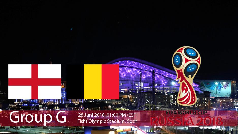 Pertandingan Grup G antara Inggris Vs Belgia dalam Ajang Piala Dunia Rusia 2018
