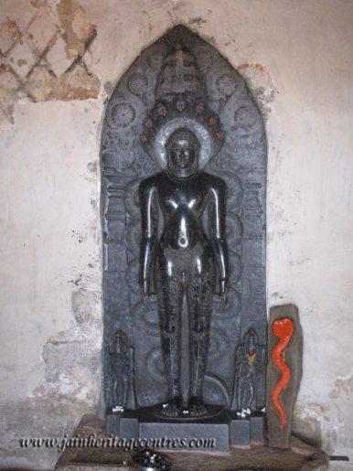 Lord Parshwanath, Megala Basadi on Chandragiri Hillock, Shravanabelagola.