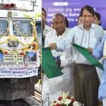 Deve Gowda flags off train, 20 yrs after he sanctioned it