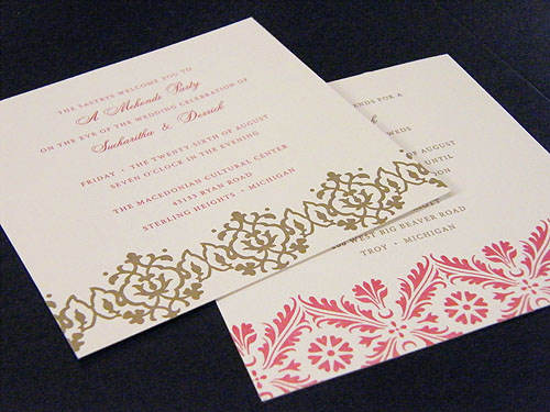 Gold Indian Wedding Invitation