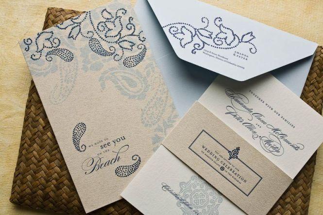Indian Wedding Invitations By Saima