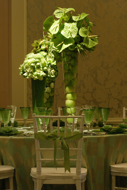 Lovely Green Centerpiece By Floramor Maharani Weddings