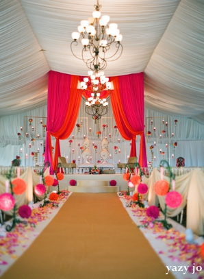 Contemporary Indian Wedding In Pink And White by Yazy Jo ...