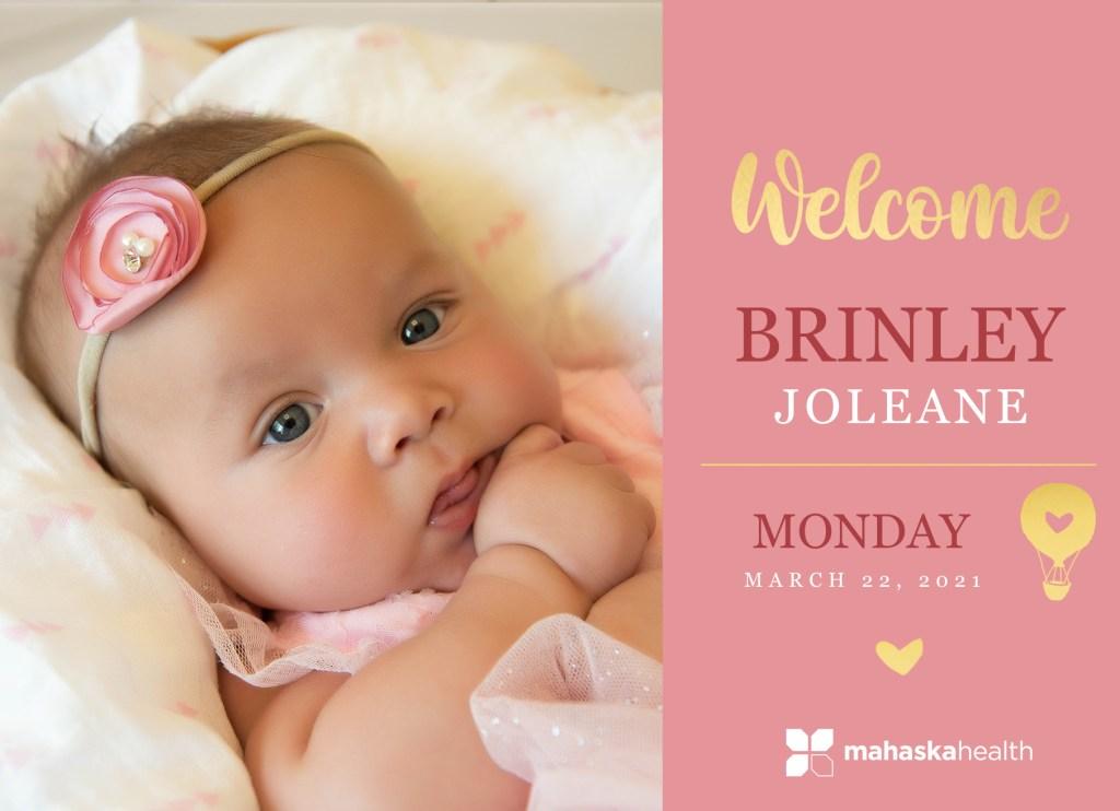 Welcome Brinley Joleane! 8