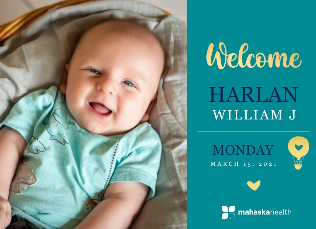 Welcome Harlan William! 8