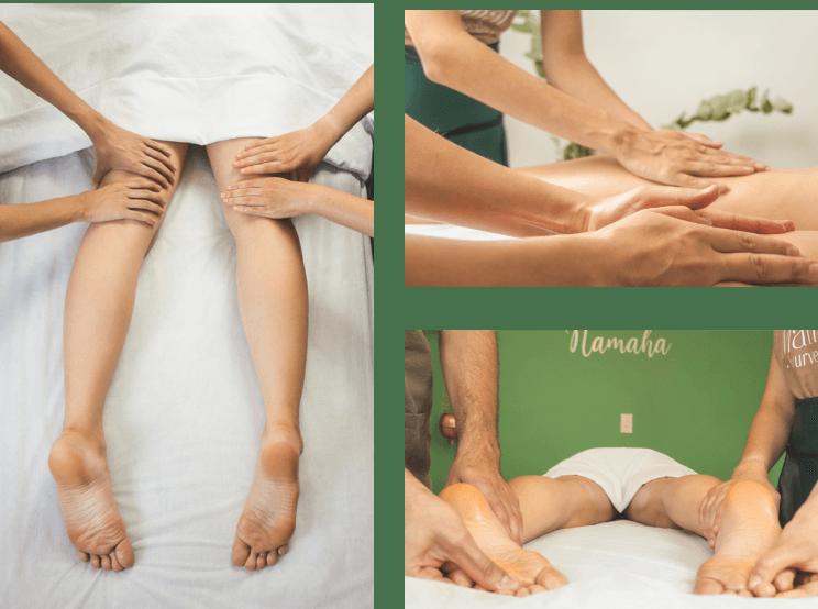 Terapia abhyanga masaje relajante