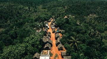 village à côté de la foret de Vohibola à Madagascar