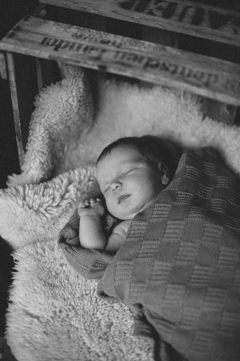 deeply sleeping baby