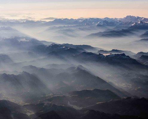 Flying over the Alps - Vol au-dessus des Alpes