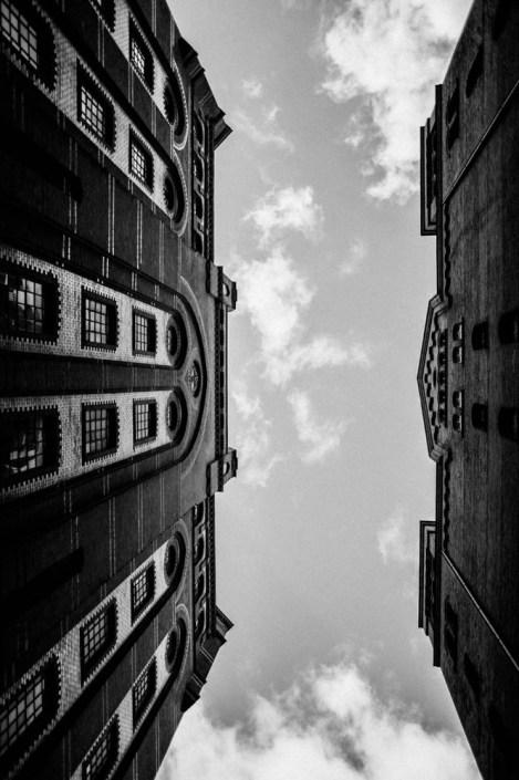 A look to the sky Speicherstadt - Hamburg