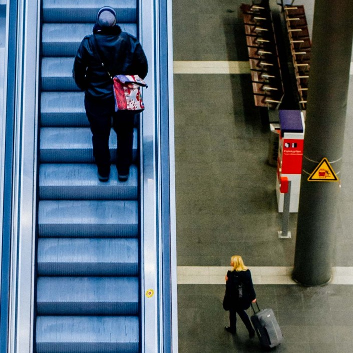 Berlin Central Station - Stairs and layers 7