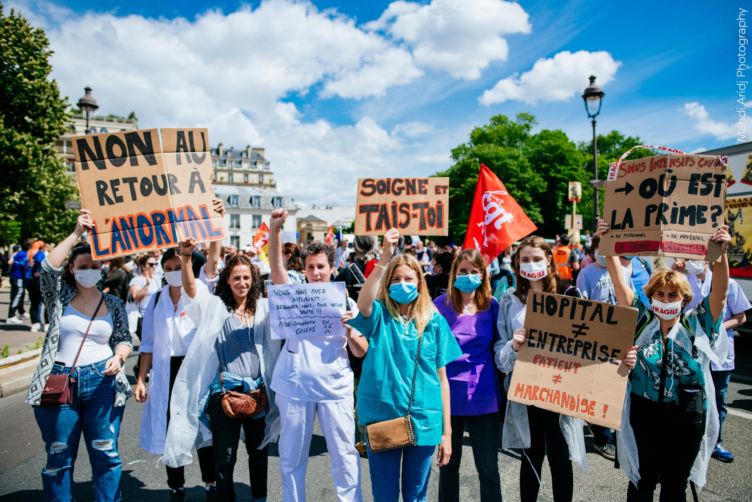 Manifestation des soignants à Paris Juin 2020 - Medical staff demonstration - Paris June 2020