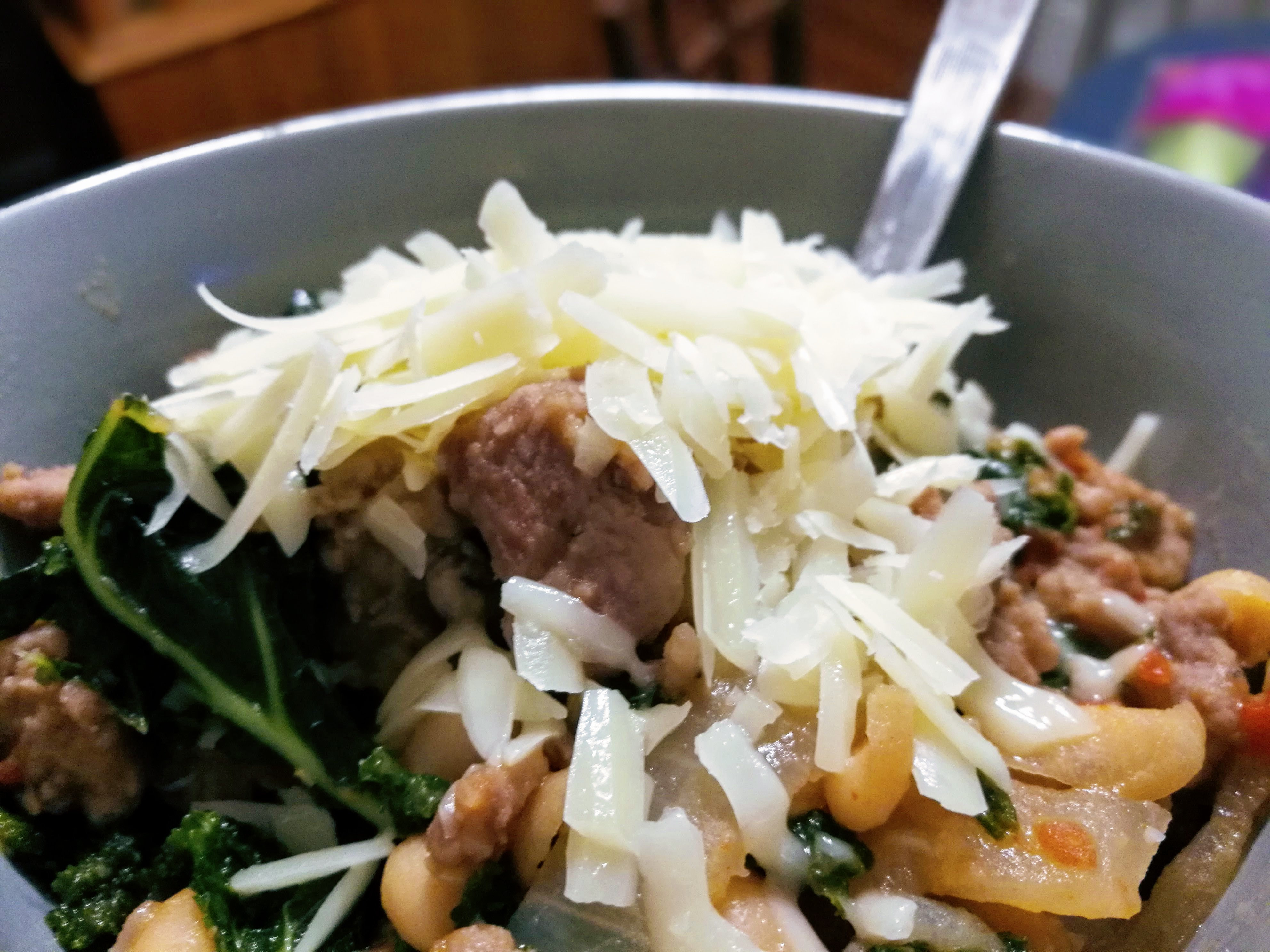 Sausage with Kale & Beans