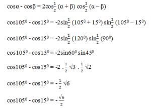 contoh soal pengurangan cosinus