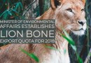 Lion bone export quota for 2018