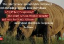 "International Animal Rights movement  is  VERY busy ""capturing"" the South African Wildlife Industry"