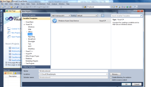 VS 2010- Project- Cloud