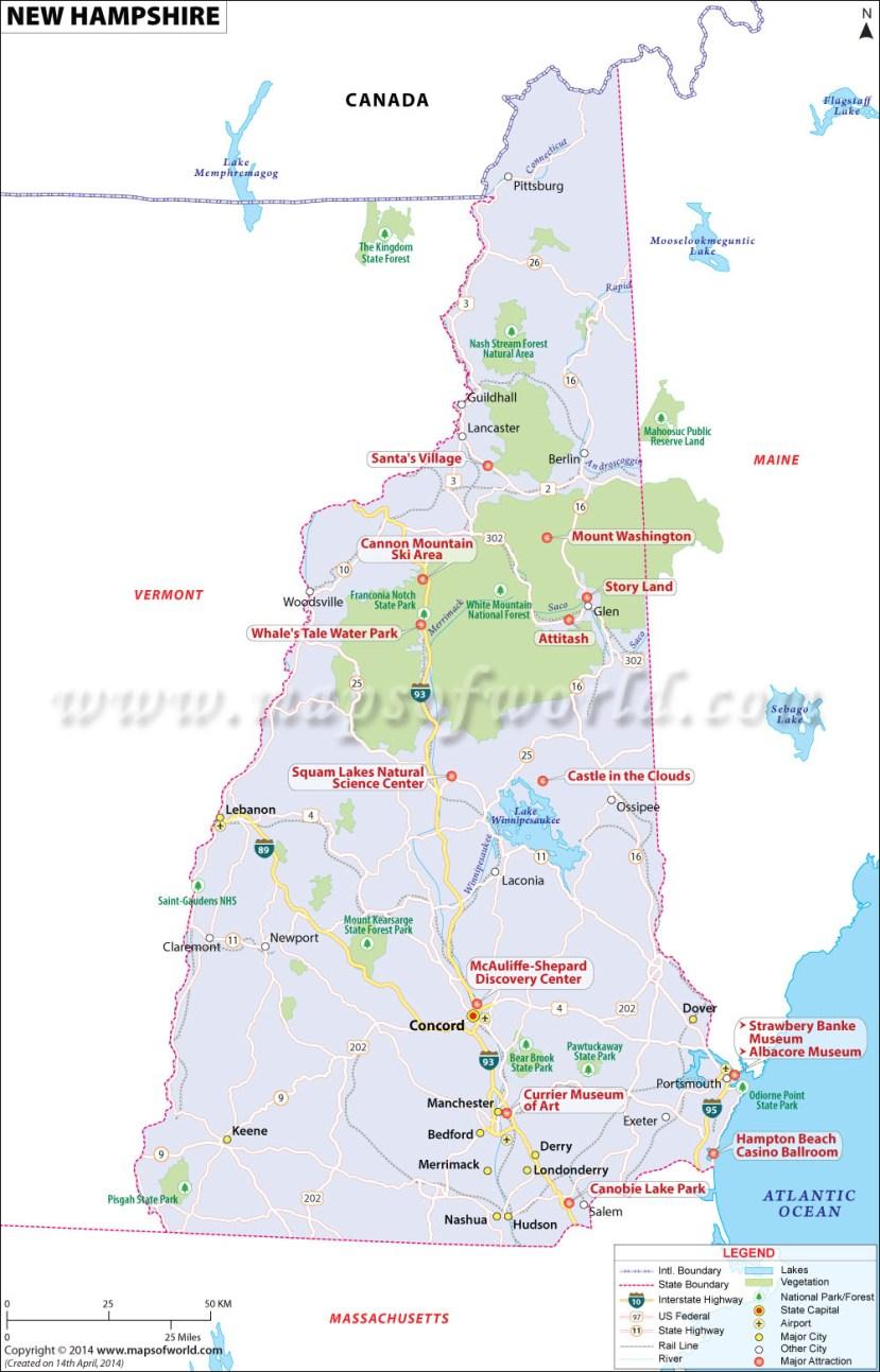 New Hampshire Map