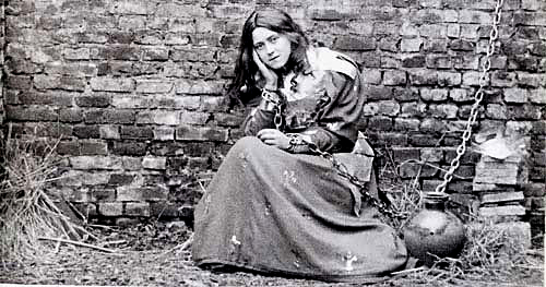 St. Therese dressed as Joan of Arc