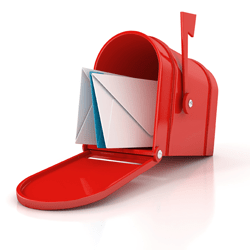 red mailbox pair direct mail with email