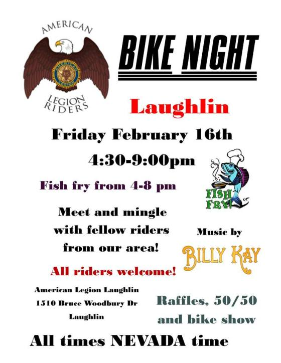 Flyer for American Legion Post 60 Bike Night