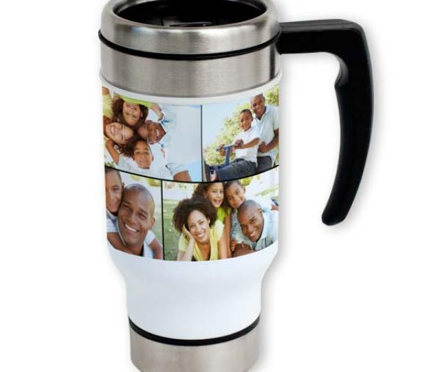 Take You Favorite Photos On The Go With Our Customized Photo Collage Travel Mugs