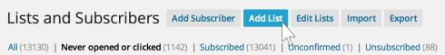 Add a subscriber list