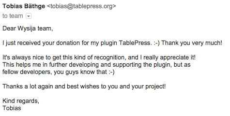 tablepress-thank-you-email