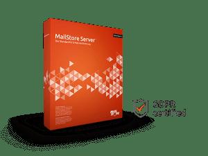 MailStore Server Boxshot con certificado GDPR