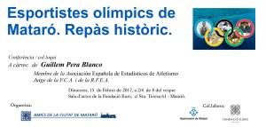 targeto conferencia Esportistes olimpics de Mataro