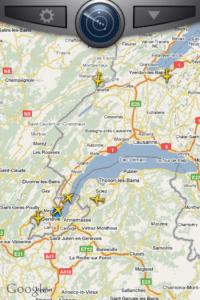 Planes approaching Geneva airport